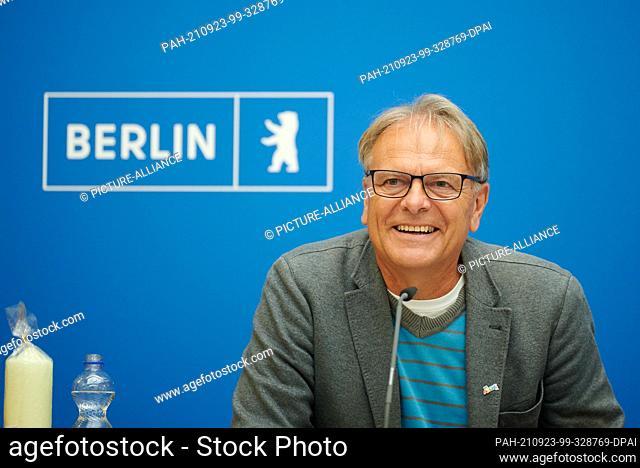 "23 September 2021, Berlin: Bernd Oettinghaus, initiator of the campaign """"October 3rd - Germany sings"""" and chairman of Danken.Feiern.Beten.e.V"
