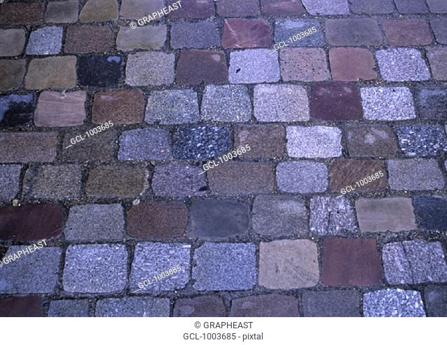 Cobblestones on an old road