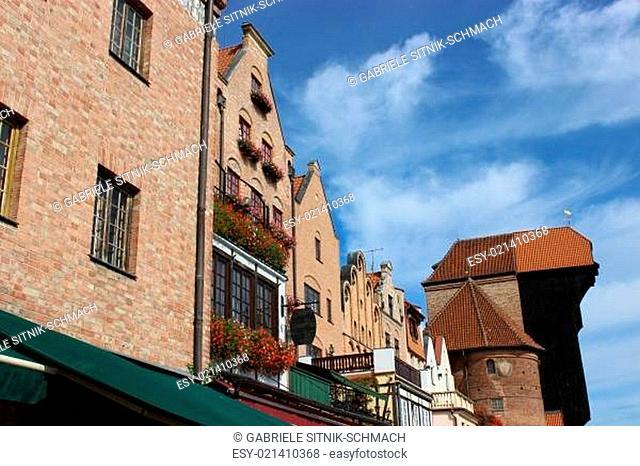 Danziger Altstadt mit dem Krantor