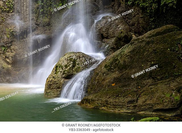 The Pahangog Twin Falls, (Waterfalls) Dimiao, Bohol, The Philippines