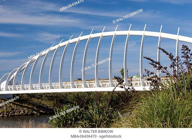 New Zealand, North Island, New Plymouth, Te Rewa Rewa Bridge