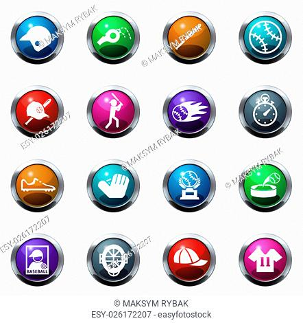 Baseball color icon for web sites and user interfaces