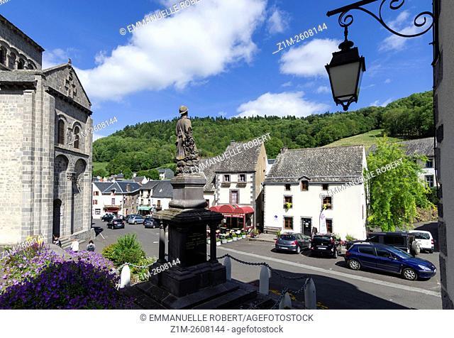 Orcival, Medieval village, Puy de Dome, Auvergne, France