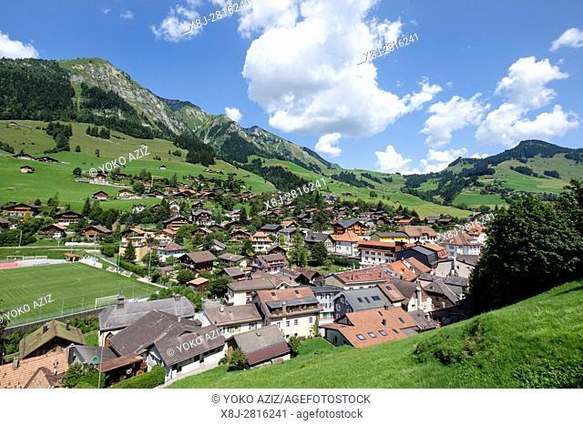 Switzerland, Canton Vaud, Chateau d'Oex, landscape
