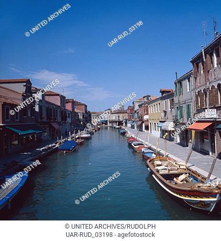 Reise durch Italien, Insel Murano, 1980er Jahre. Journey through Italy, Murano island, 1980s
