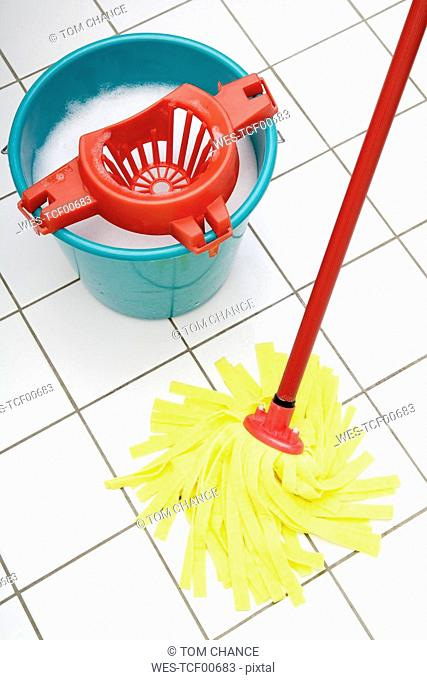 Cleaning utensils, Mop and bucket