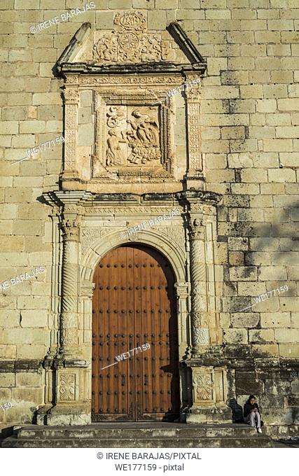 Side entrance at the Santo Domingo Temple, Oaxaca City, Mexico