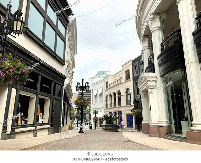 Rodeo Collection Shops on Rodeo Drive Luxury Shopping District, Beverly Hills, CA, USA. EDITORIAL USE ONLY
