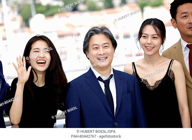 Actress Kim Tae-Ri, director Park Chan-Wook, actress Kim Min-Hee and actor Ha Jung-Woo attend the photocall of 'The Handmaiden (Mademoiselle)' during the 69th...