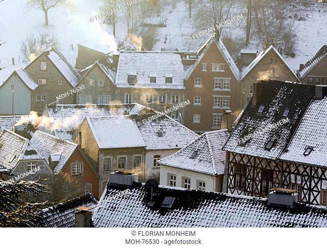 Kornelimünster, Historischer Ortskern im Winter