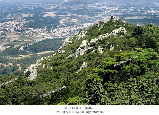 Portugal, Lisbon region, Sintra, Castelo dos Mouros (Castle of the Moors), listed as World Heritage by UNESCO
