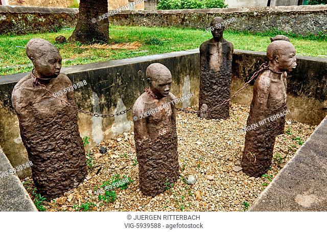 Slavery memorial in Stone Town, UNESCO World Heritage Site, Zanzibar, Tanzania, Africa - Stone Town, Zanzibar, Tanzania, 31/10/2015