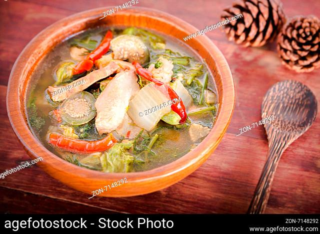 Northern Thai Spicy Soup with Pork