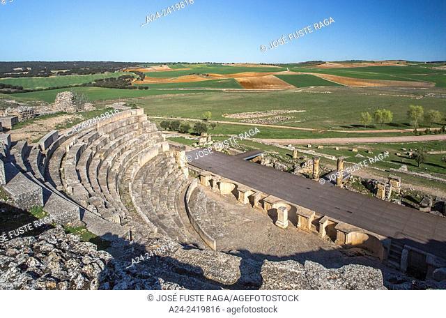 Spain , Cuenca Province, Roman ruins of Segobriga City, The Theatre