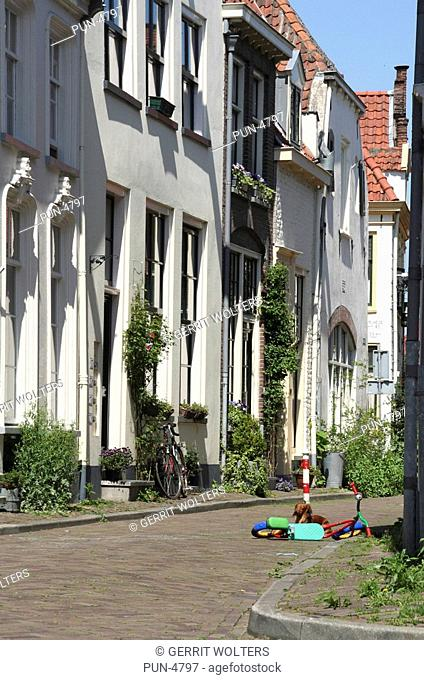 Renovated houses in the old town centre of Zutphen