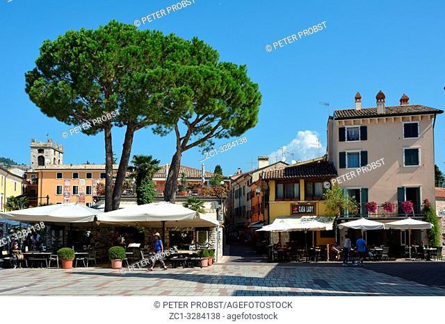 Historical center of the city of Garda on Lake Garda - Italy