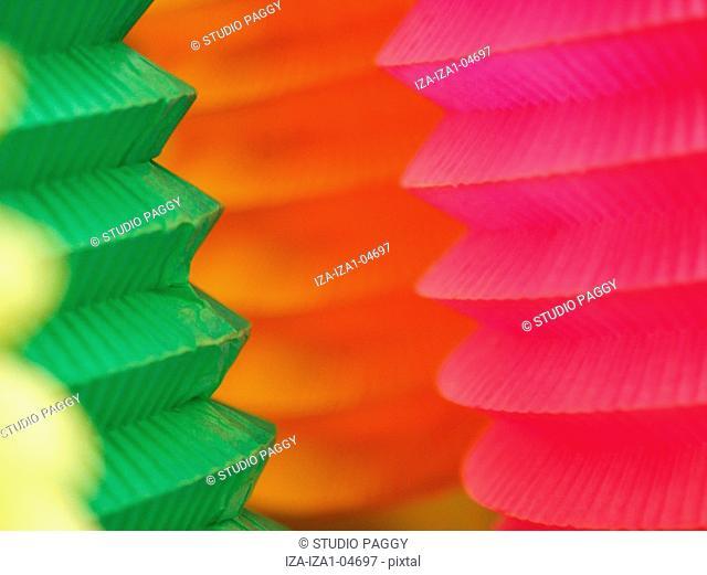 Close-up of paper lanterns