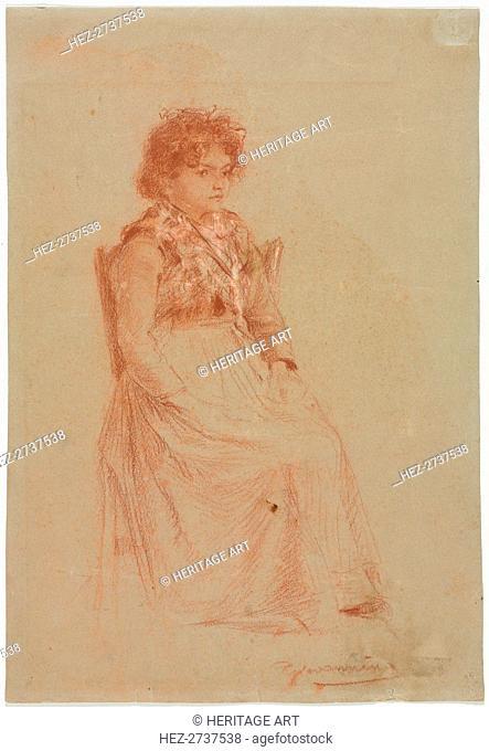 Peasant Woman. Creator: Friedrich Gauermann (Austrian, 1807-1862)