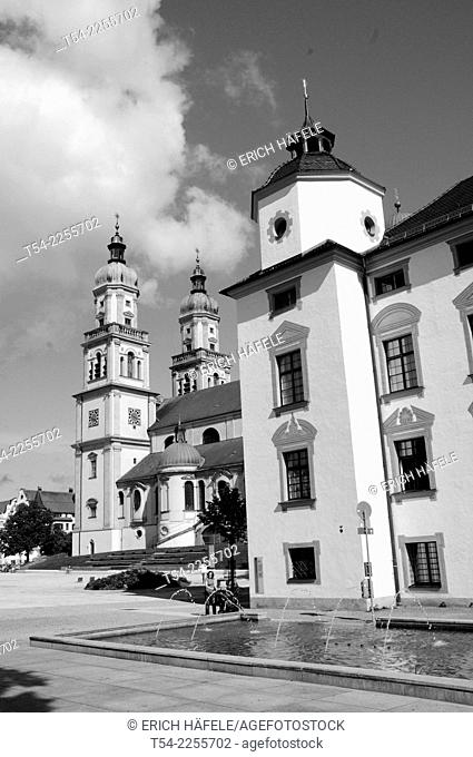 The St. Lawrence Church in Kempten, Bavaria, Allgaeu