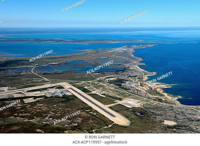 aerial, airport, Churchill, Manitoba, Canada