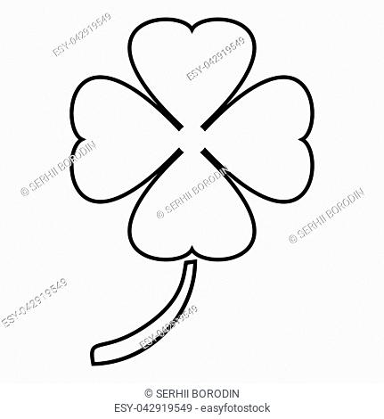 Clover icon black color vector illustration flat style simple image