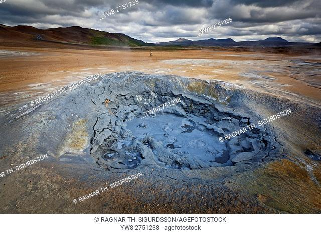 Boiling mudpots, Namaskard- Geothermal Volcanic area, Northern Iceland