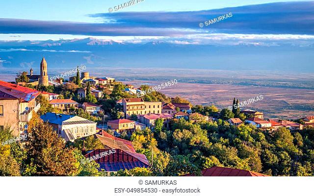 Signagi or Sighnaghi city in Kakheti region in Georgia