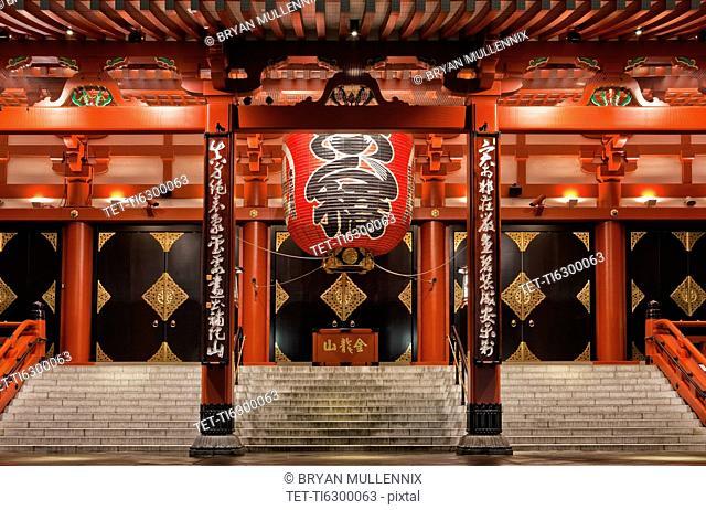 Japan, Tokyo, Asakusa, Senso-Ji Temple, entrance