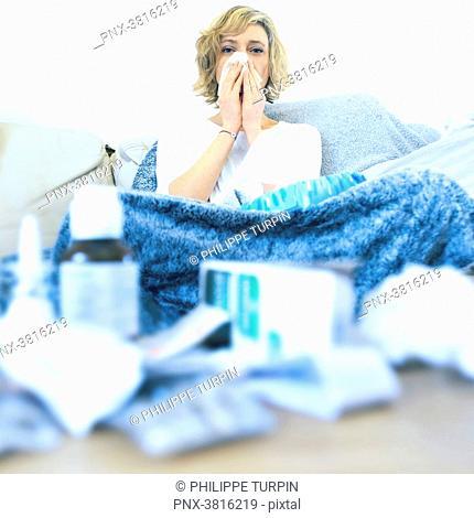 Woman at home. Seak
