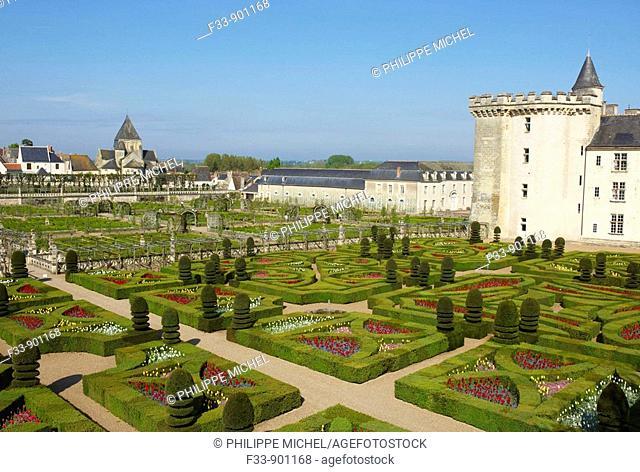 Castle and gardens of Villandry, Indre-et-Loire, France