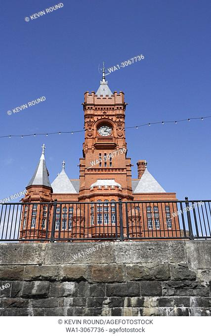 The Pierhead building in Cardiff Bay Wales UK, formerly the Docks Offices