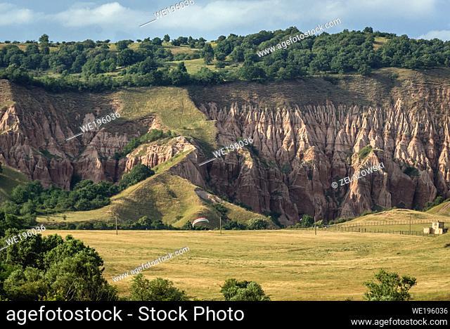 Rapa Rosie - Red Ravine protected area near Sebes city in Alba County in Transylvania region of Romania