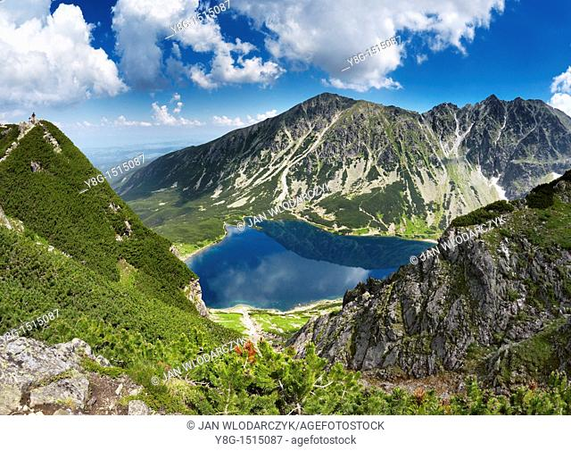 Black Pond in Gasienicowa Valley, Tatra National Park, Poland, Europe