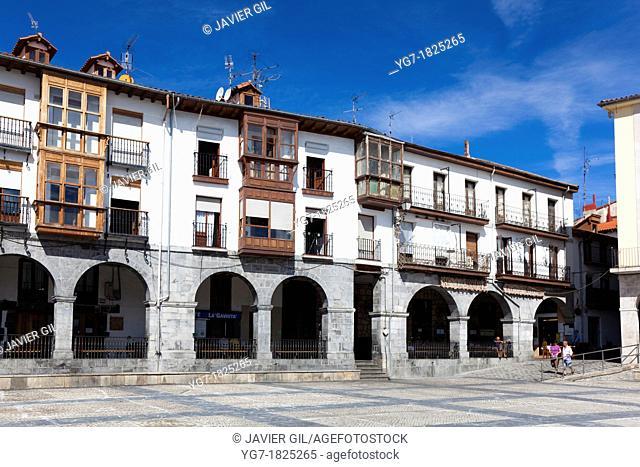 City council square, Castro Urdiales, Cantabria, Spain