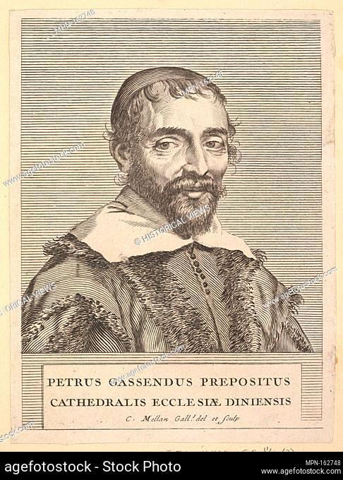 Pierre Grassendi. Series/Portfolio: L'Europe illustre d'Odieuvre; Artist: Anonymous, French, 17th century; Artist: After Claude Mellan (French