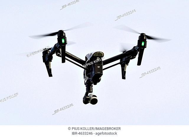 DJI Inspire 1 drone in flight