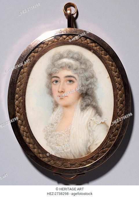 Portrait of a Woman, c. 1795. Creator: Nathaniel Plimer (British, 1757-1822)