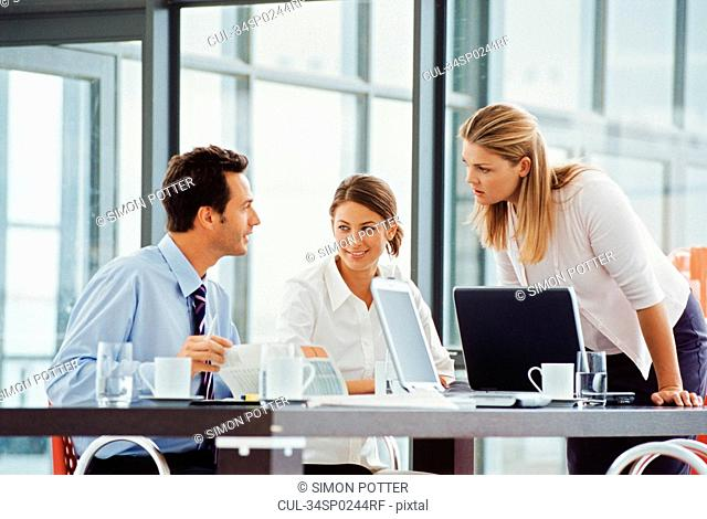 Business people working at desk