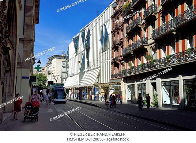 France, Bas Rhin, Strasbourg, rue de la Haute Montée, the modernized Printemps department store