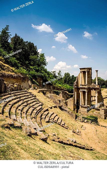 Roman ruins in Volterra, Tuscany, Italy