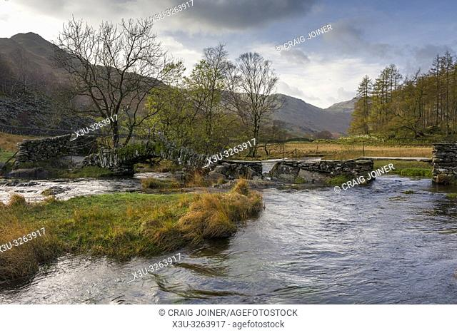 Slater Bridge over the River Brathay in the Lake District National Park, Cumbria, England