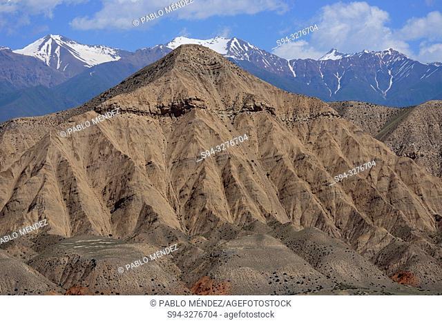 Sandstone mountain of Naryn, Kyrgyzstan