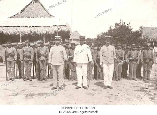 'Madeira-Mamore Railway: On the Bolivia-Brazil frontier: Bolivian officers and soldiers', 1914. Artist: Unknown