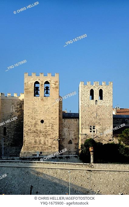 Fortified Church of Saint Victor Marseille or Marseilles Bouches-du-Rhône Provence France