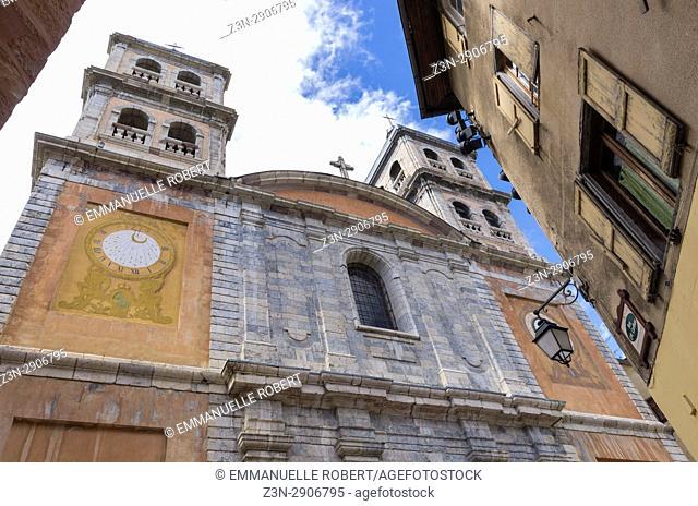 The Collegiale Notre Dame church in Briançon, Hautes Alpes,Frenc Alps, Provence Alpes Côte d'Azur, France, Europe