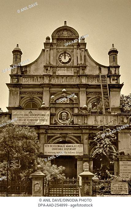 Seth nesserwanjee maneckji petit building, mumbai, maharashtra, india, asia
