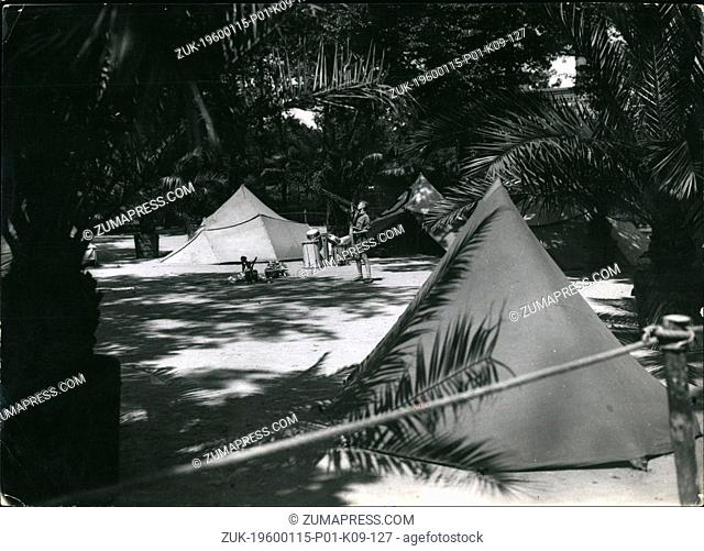 1947 - Hitler youth camp under palms-in Berlin: A great place in the Berlin zoo is not to be recognized. A tent camp of the Hitler youth has been erected under...