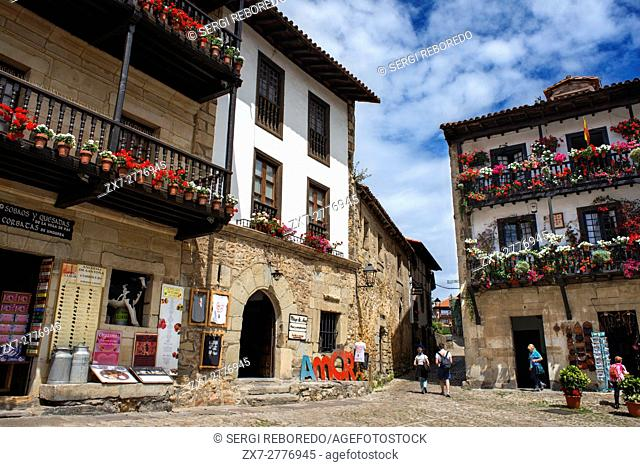 Santillana Del Mar, Medieval Village in Cantabria, Spain. One of the stops of the Transcantabrico Gran Lujo luxury train