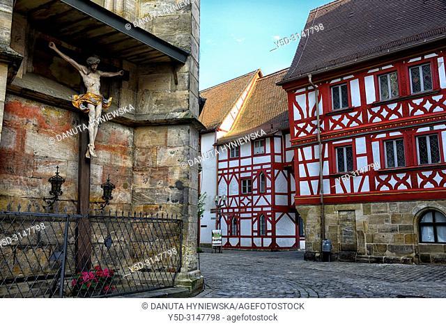 St. Martin church, St.-Martin-Strasse around the church, historic part of Forchheim, Forchheim, Franconian Switzerland, Upper Franconia, Franconia, Bavaria