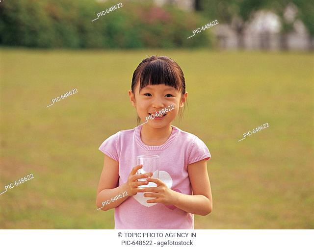 Girl Holding Glass,Korea